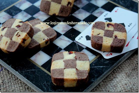 Gâteau sec / biscuits damier