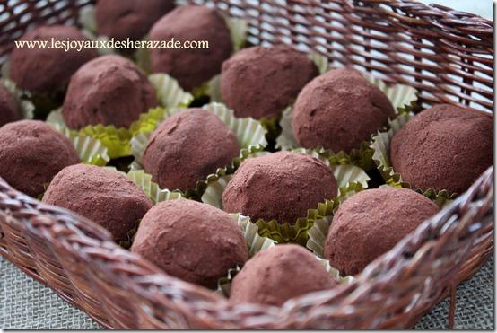 Truffes au chocolat - crème de marron