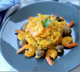 riz aux crevettes , recette indienne