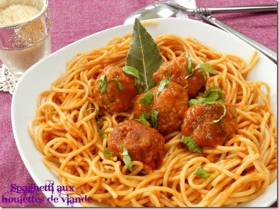 Spaghetti aux boulettes de viande, la cuisson al dente des pâtes