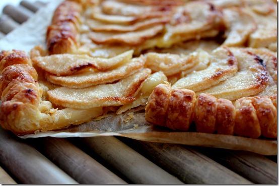 Tarte fine aux pommes caramélisée