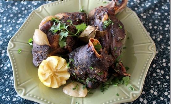 tete de mouton au four, recette algerienne