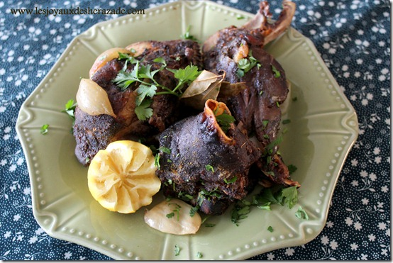 Bouzelouf au four / tête de mouton au four...recette algérienne
