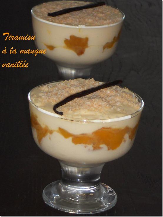 Tiramisu à la mangue vanillée, recette de tiramisu