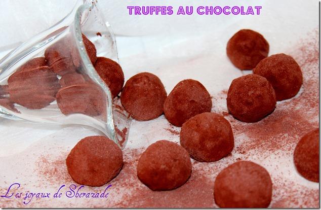 Truffes au chocolat de Stéphane Glacier