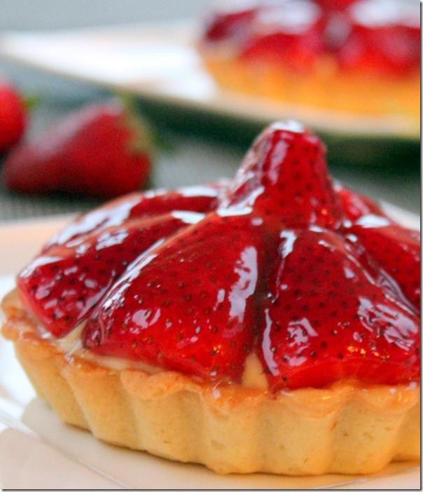 tarte à -la-fraise et creme patissiere facile