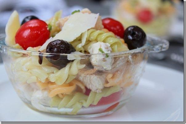 salade composée, salade de pate au pouet