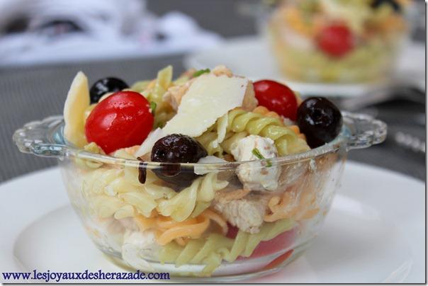 salade de pate composée, facile et rapide