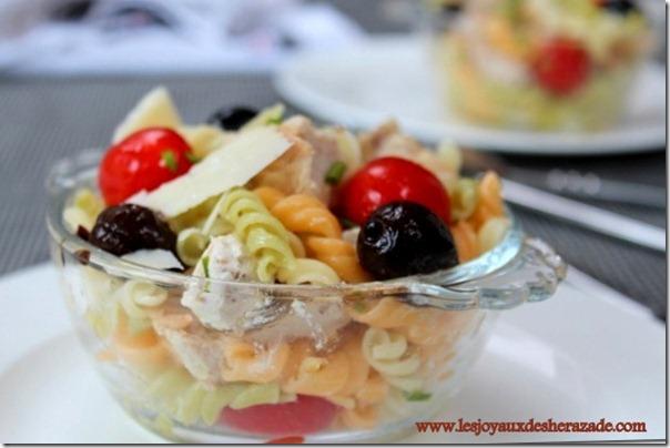 salade de pate , une salade d'ete , salade composee