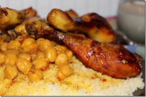 couscous algerien, couscous au poulet