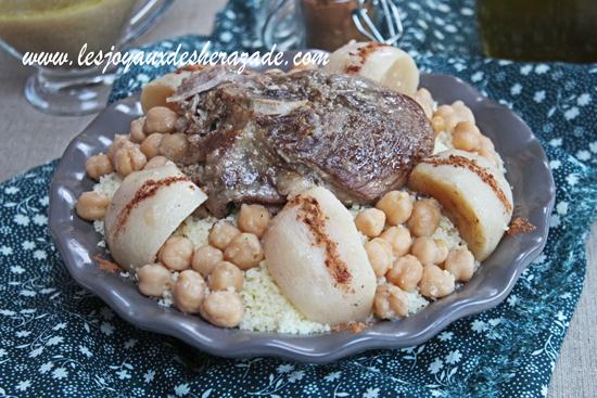 Couscous sauce blanche aux navets d'Alger