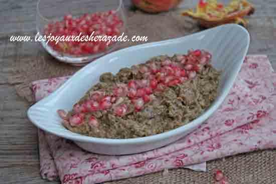 crème d'aubergines au tahini