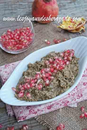 Crème d'aubergine au tahini-gremade