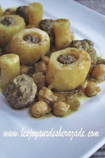 dolma batata, pommes de terre farcies