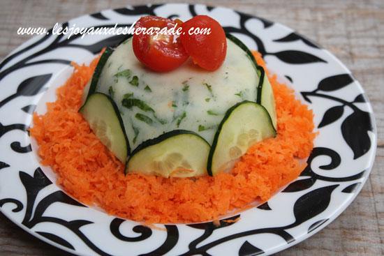 Salade composée de riz et pommes de terre