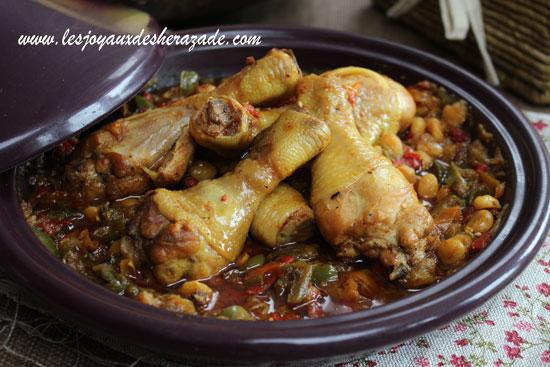 Tajine de poulet aux poivrons