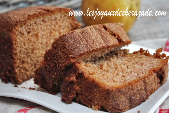 Cake moelleux aux poires et sirop d'érable