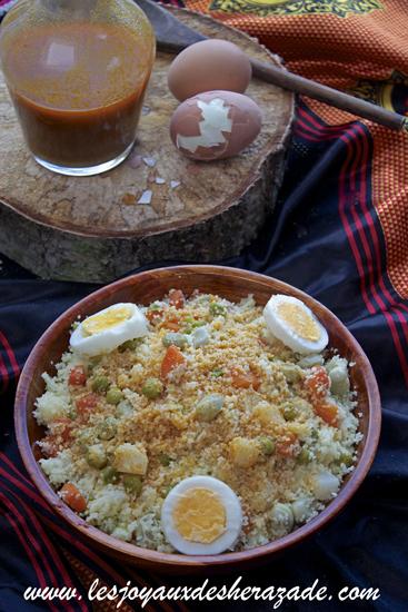 Couscous aux légumes et sauce, tchiwtchiw