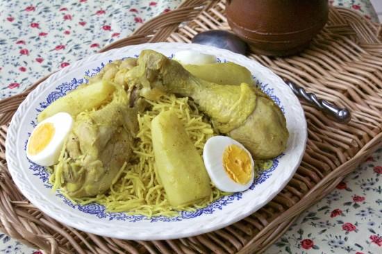 Douida ou dwida, vermicelles au poulet