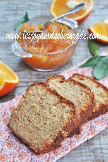 Cake à la confiture d'orange moelleux