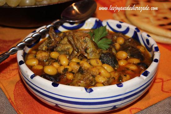 Cuisine algérienne: bouzelouf loubia