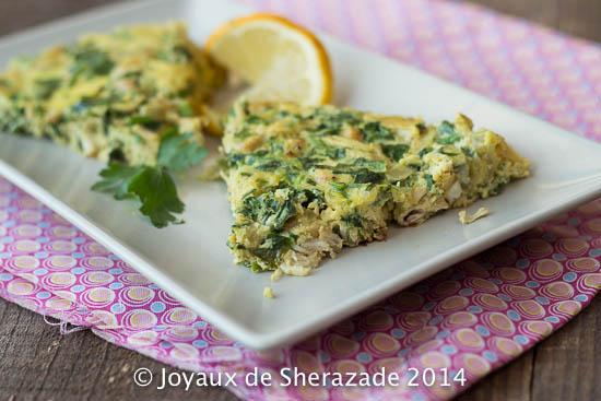 Omelette de poulet au persil / Mâadnoussia