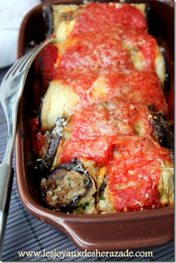 aubergine farcie , recette algerienne