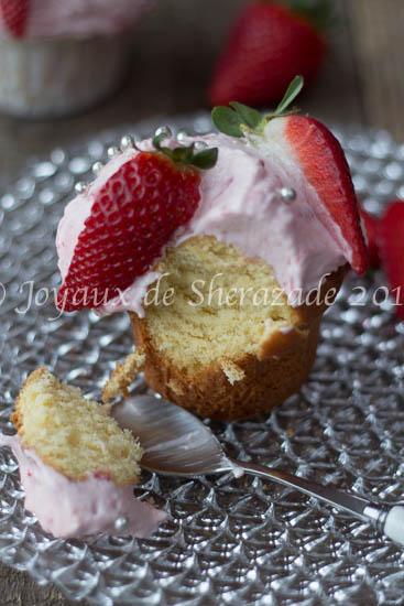 Cupcakes à la crème de fraise
