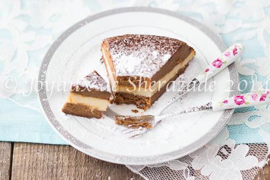 Gâteau à la patate douce-chocolat et crème pâtissière