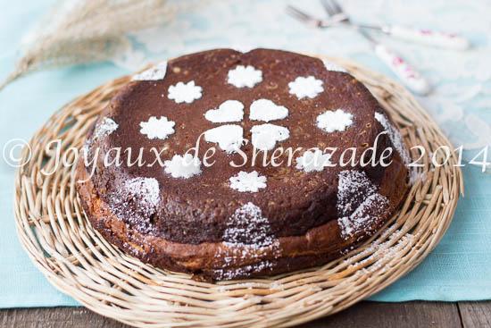 Gateau à la patate douce,- chocolat et crème pâtissière