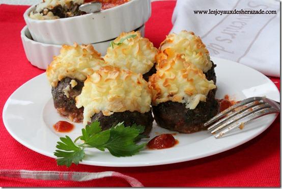 recette de kofta hassan pacha, viande hachée et purée de pommes de terre border=