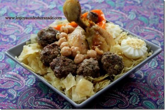 Mqartfa nwasir préparé à l'occasion de la soffra menchiya sous la demande des familles de la bourgeoisie bônoise.
