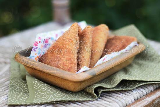 Samoussas aux crêpes et épinards