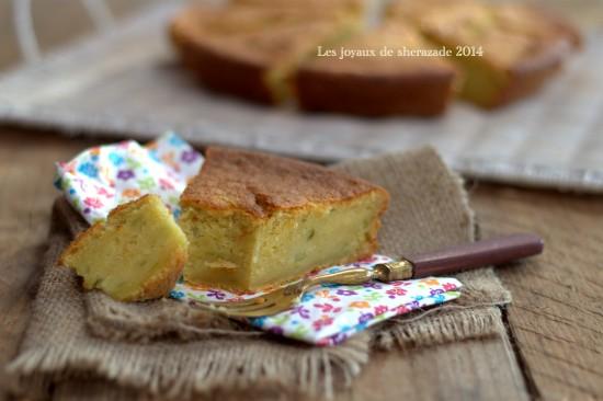 gâteau sucré aux courgettes