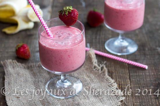 Smoothie fraise, banane