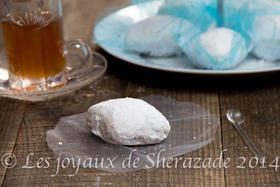boussou la tmessou, gâteau algérien sec