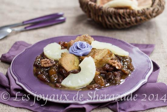 Tajine de veau aux raisins secs