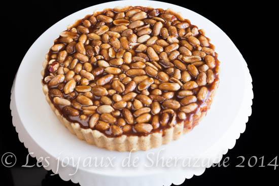 Tarte caramel cacahuètes