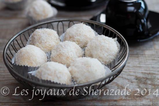 gateau boules de neige à la noix de coco