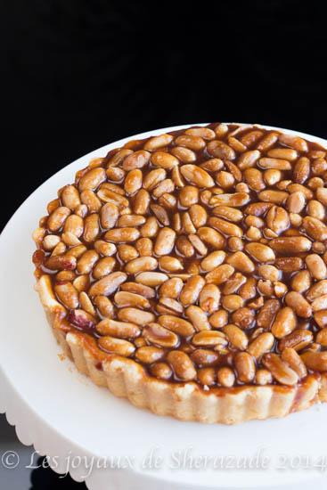 Tarte caramel -cacahuètes