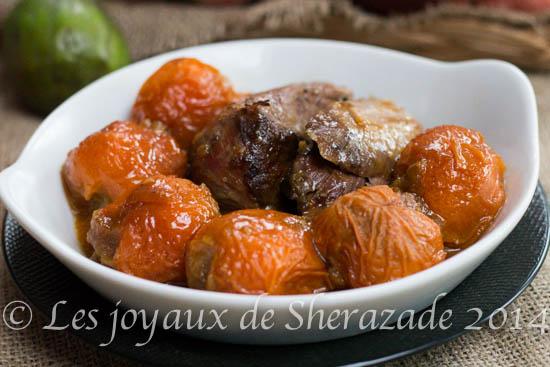tajine aux abricots farcies