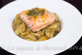 Tajine de saumon au fenouil