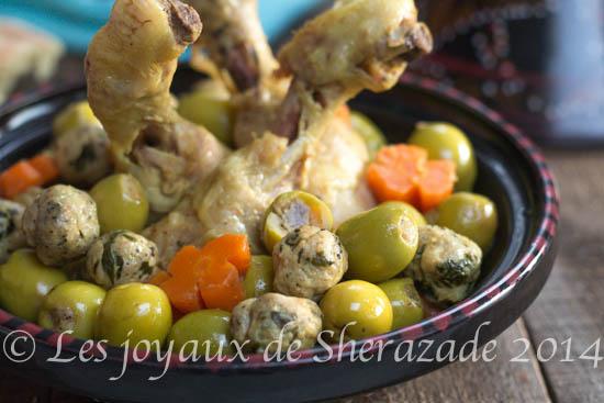 Poulet aux olives farcies
