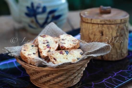 Croquant ou biscottis aux fruits confits