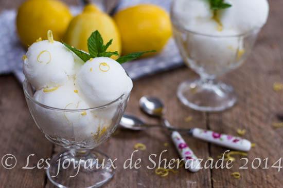 Créponné (sorbet au citron d'Algérie)