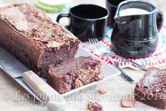 Cake au chocolat , courgettes