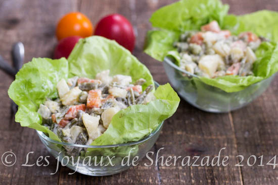Macédoine de légumes frais, mayonnaise