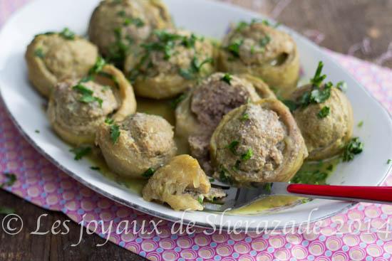 artichaut farci, cuisine algérienne