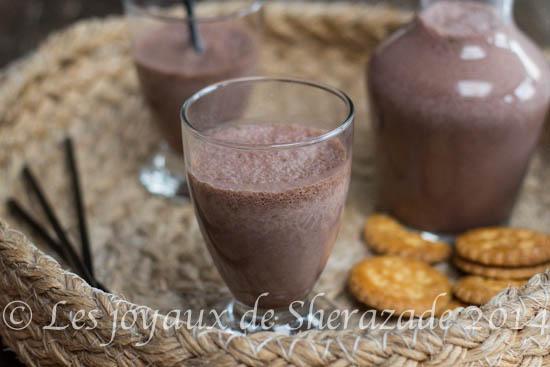 milk shake choco-banane