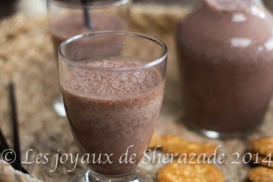 milk shake chocolat banane
